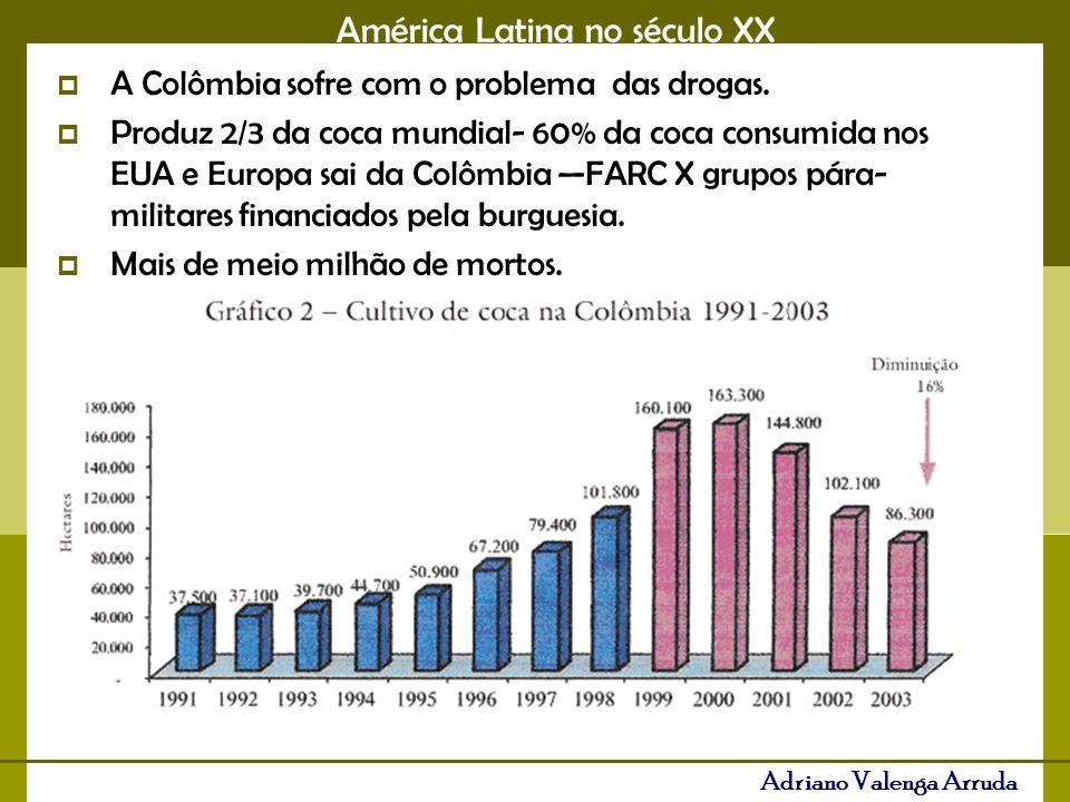 América Latina no século XX Adriano Valenga Arruda A Colômbia sofre com o problema das drogas.