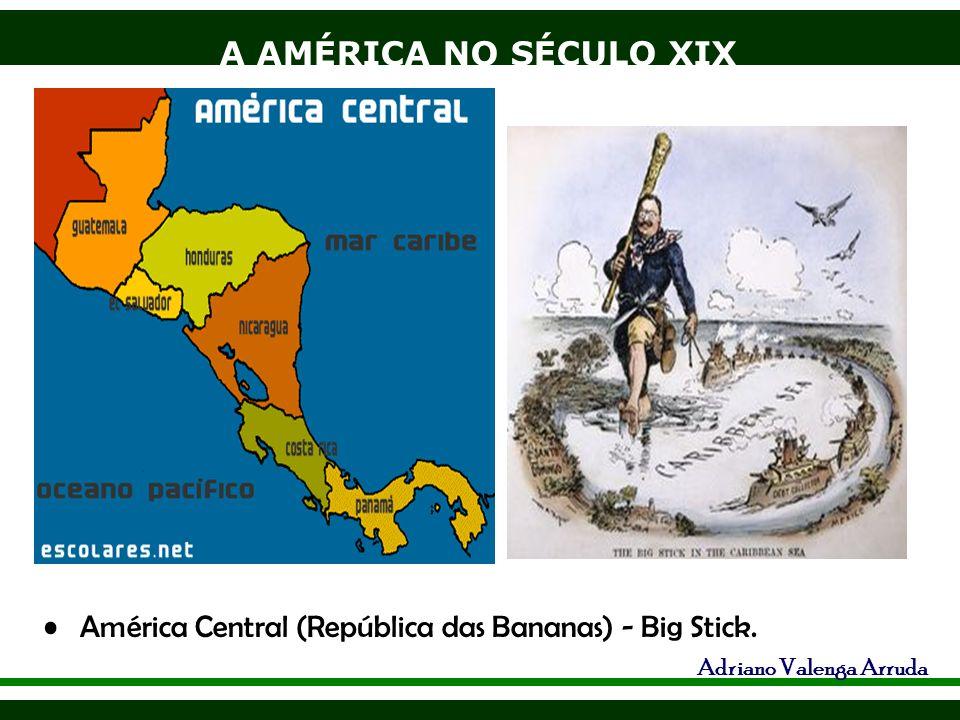 A AMÉRICA NO SÉCULO XIX Adriano Valenga Arruda América Central (República das Bananas) - Big Stick.