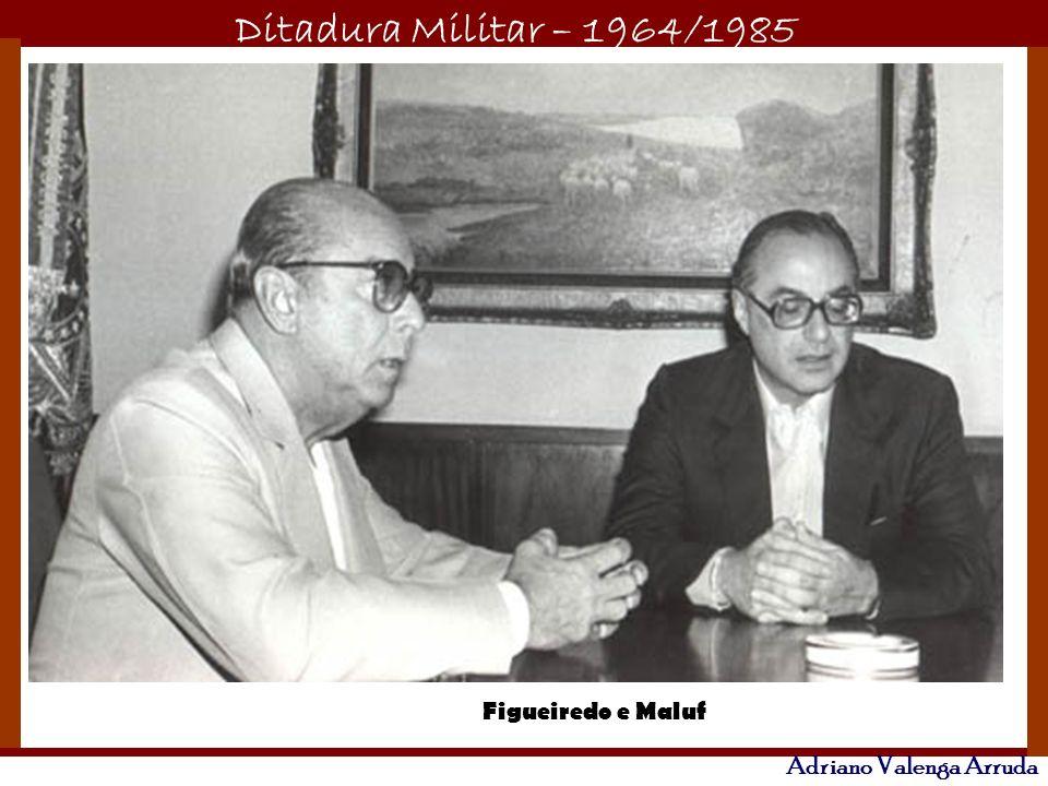 Ditadura Militar – 1964/1985 Adriano Valenga Arruda Figueiredo e Maluf