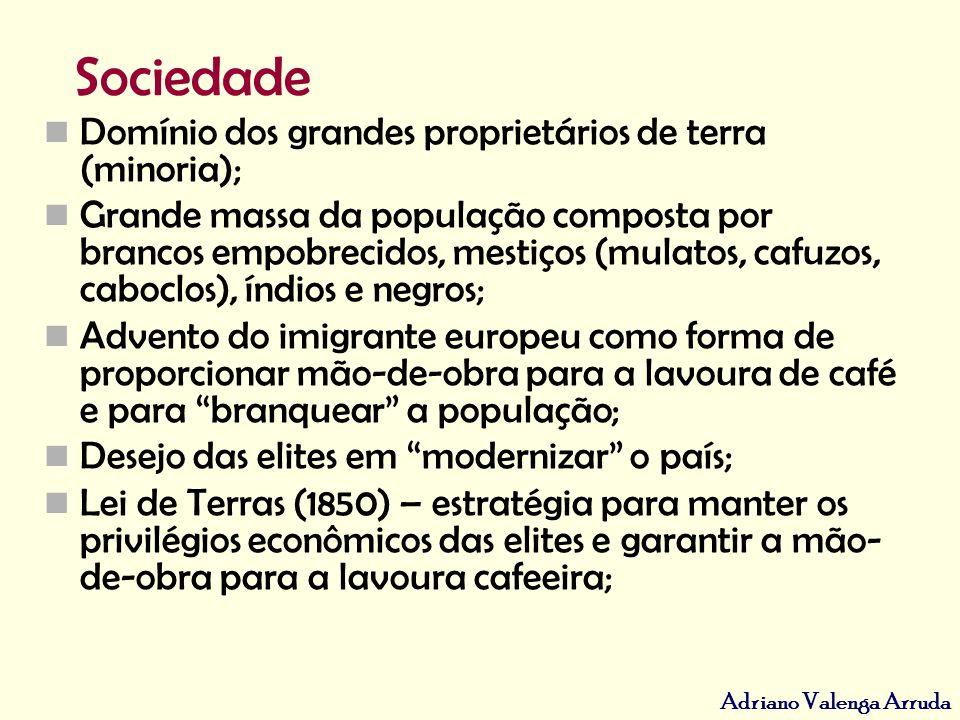 Adriano Valenga Arruda Cultura Predomínio das idéias importadas da Europa pela elite brasileira.