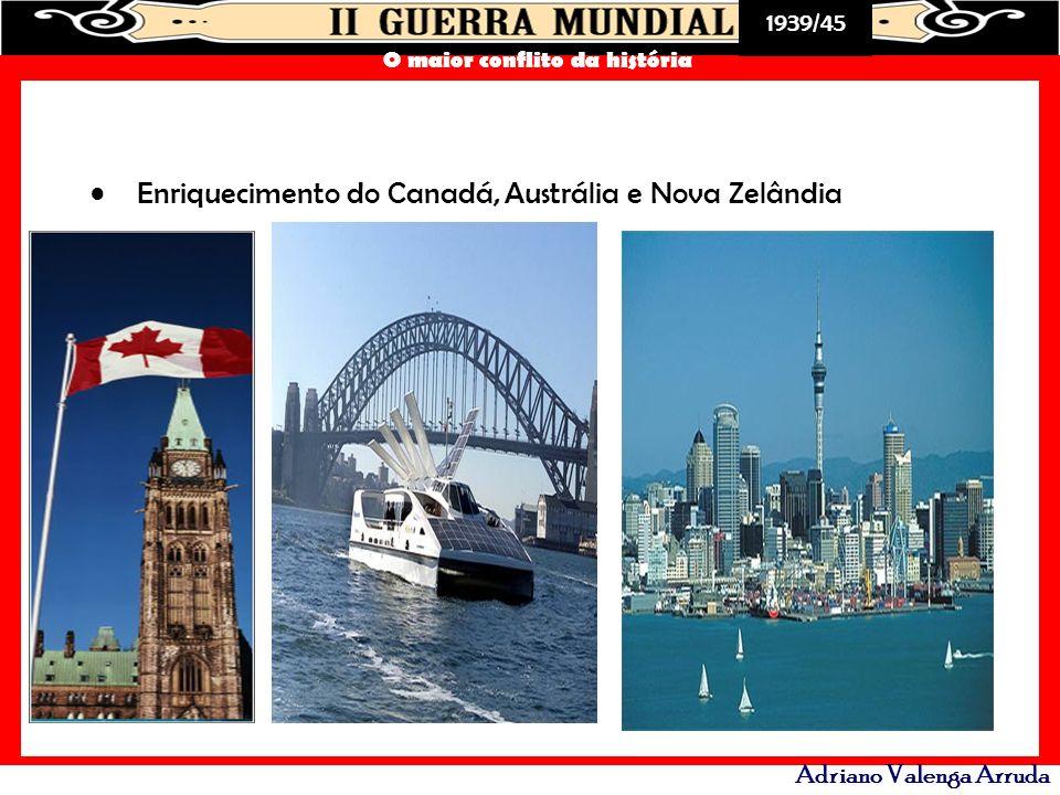 1939/45 O maior conflito da história Adriano Valenga Arruda Enriquecimento do Canadá, Austrália e Nova Zelândia