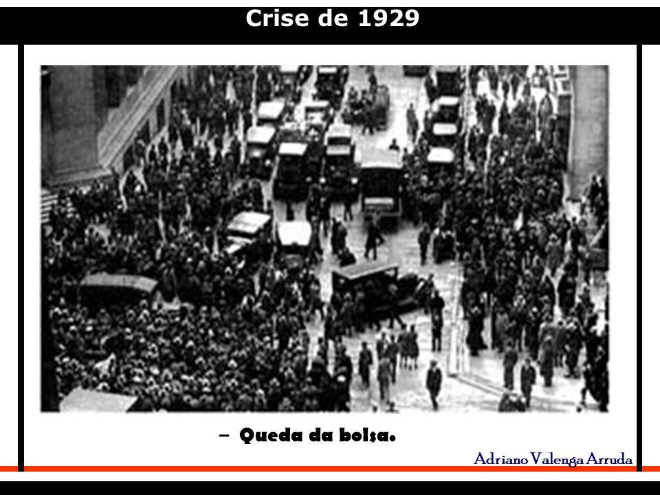 Crise de 1929 Adriano Valenga Arruda – Queda da bolsa.