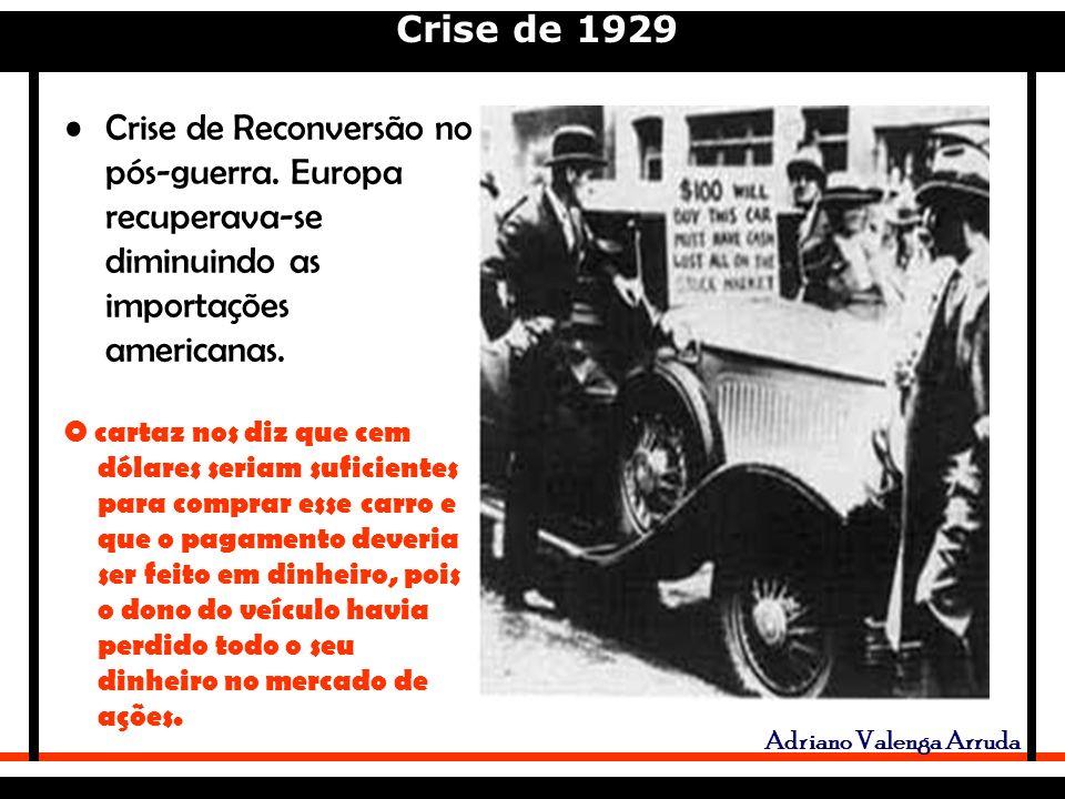 Crise de 1929 Adriano Valenga Arruda Crise de Reconversão no pós-guerra.