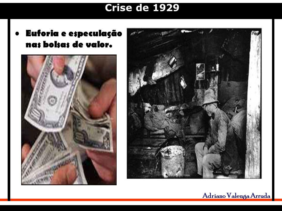 Crise de 1929 Adriano Valenga Arruda Euforia e especulação nas bolsas de valor.