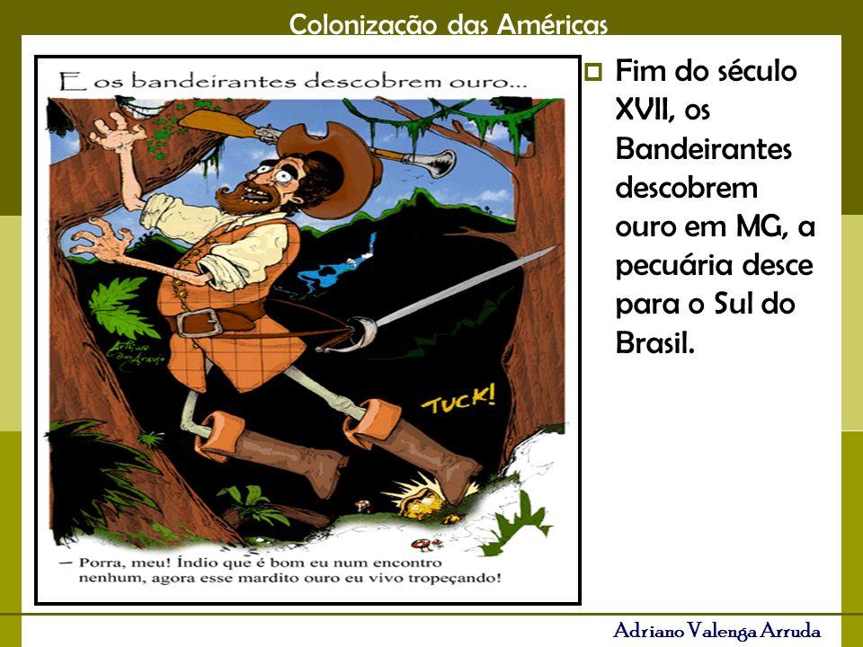 Colonização das Américas Adriano Valenga Arruda Escravidão, Classe média, interiorização da população, fome nas áreas aurículas, urbanização.
