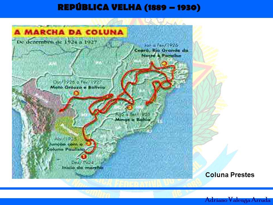 REPÚBLICA VELHA (1889 – 1930) Adriano Valenga Arruda Coluna Prestes