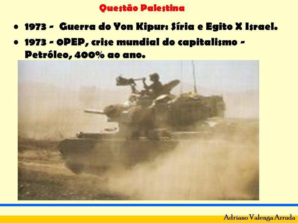 Questão Palestina Adriano Valenga Arruda 1973 - Guerra do Yon Kipur: Síria e Egito X Israel. 1973 - 0PEP, crise mundial do capitalismo - Petróleo, 400