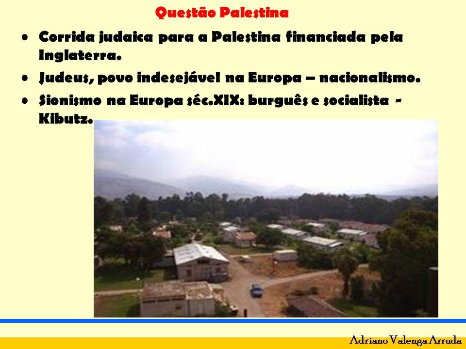 Questão Palestina Adriano Valenga Arruda Corrida judaica para a Palestina financiada pela Inglaterra. Judeus, povo indesejável na Europa – nacionalism