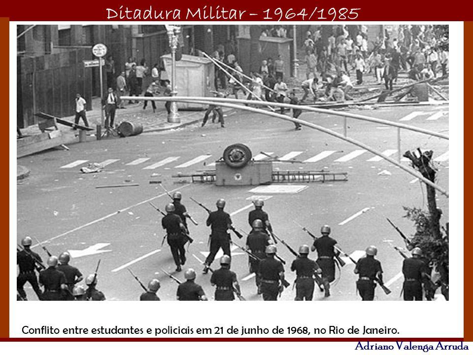 Ditadura Militar – 1964/1985 Adriano Valenga Arruda Obras faraônicas foram executadas, como a Rodovia Transamazônica e a Ponte Rio-Niterói, Usina de Itaipu.