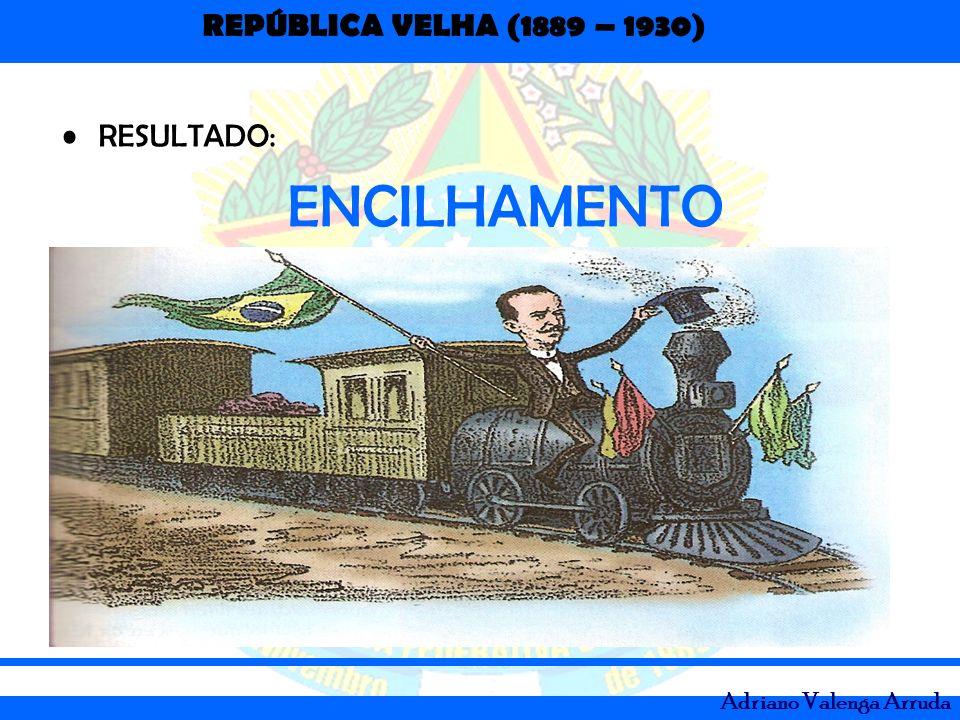 REPÚBLICA VELHA (1889 – 1930) Adriano Valenga Arruda RESULTADO: ENCILHAMENTO