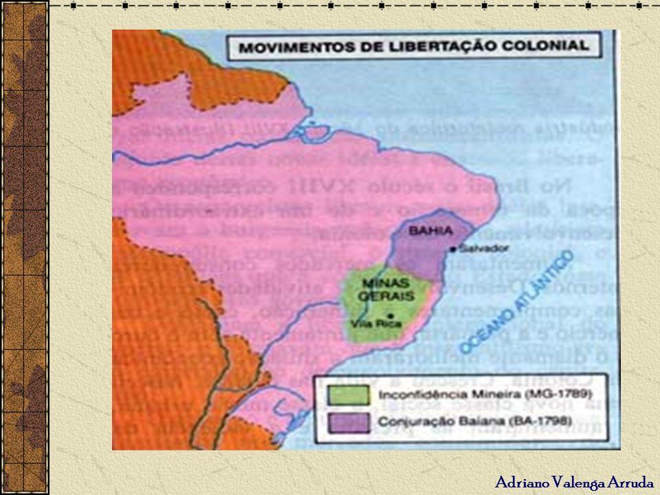 Conjuração baiana ou Revolta dos alfaiates - 1798 Causas: extrema pobreza e desigualdades sociais.