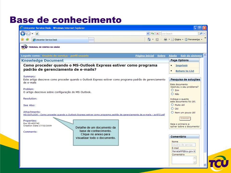 Base de conhecimento Detalhe de um documento da base de conhecimento. Clique no anexo para visualizar todo o documento.