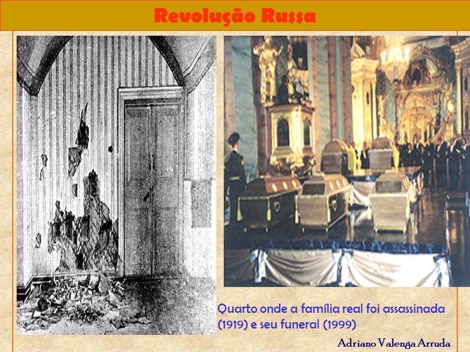 Revolução Russa Adriano Valenga Arruda Quarto onde a família real foi assassinada (1919) e seu funeral (1999)