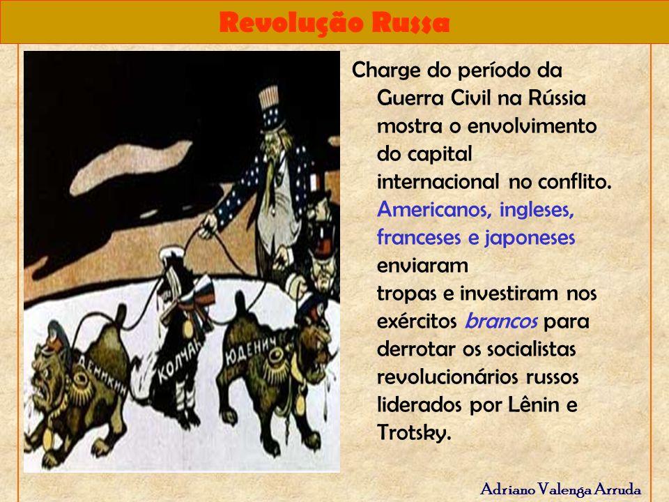 Revolução Russa Adriano Valenga Arruda Charge do período da Guerra Civil na Rússia mostra o envolvimento do capital internacional no conflito. America