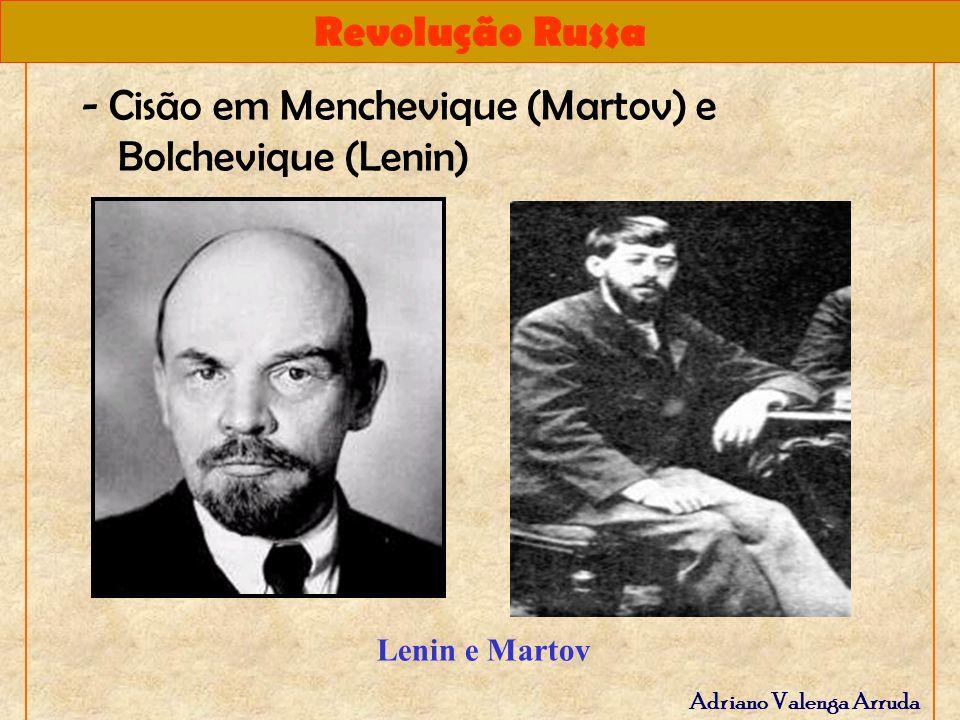 Revolução Russa Adriano Valenga Arruda mencheviques Os mencheviques: -liderados por Plekhanov e por Martoy.