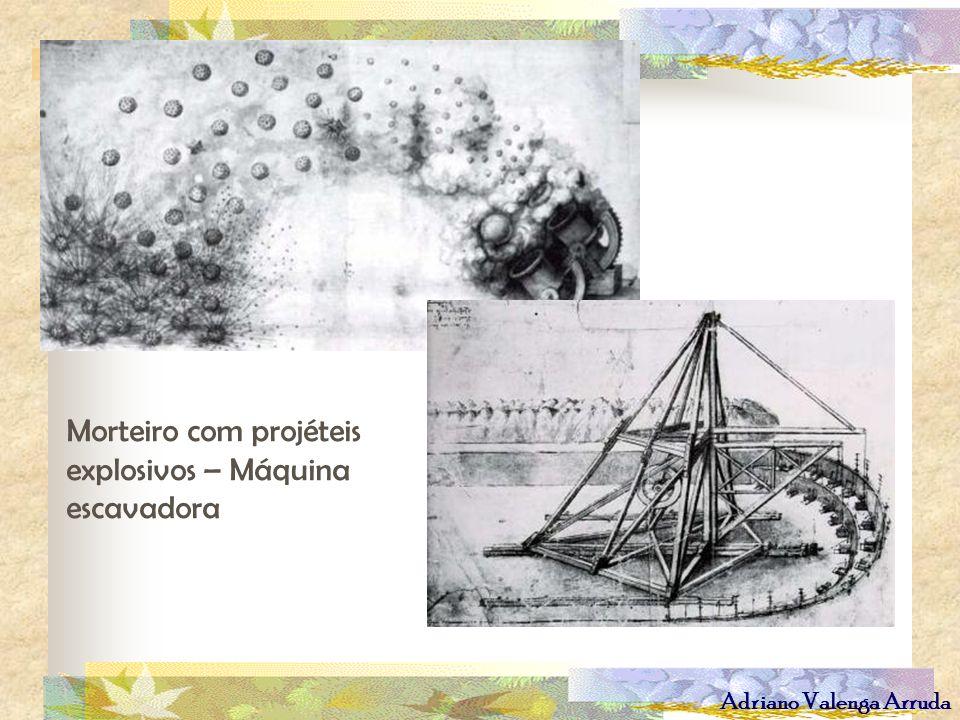 Adriano Valenga Arruda Morteiro com projéteis explosivos – Máquina escavadora