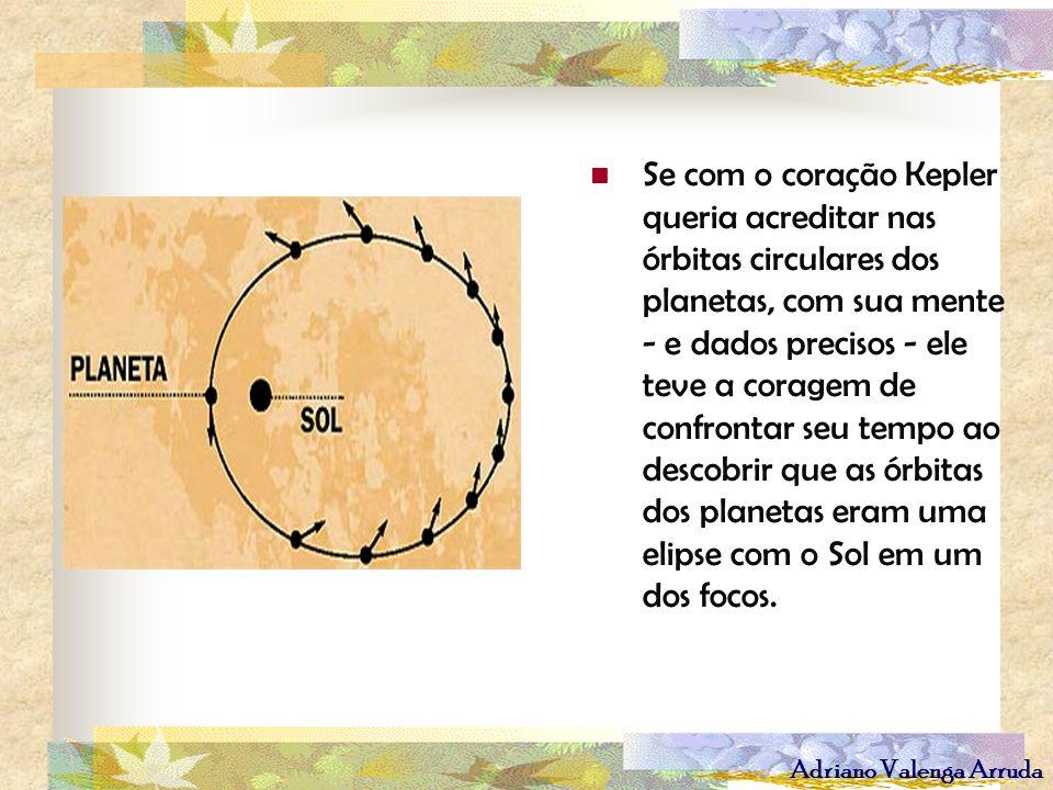 Adriano Valenga Arruda Se com o coração Kepler queria acreditar nas órbitas circulares dos planetas, com sua mente - e dados precisos - ele teve a cor