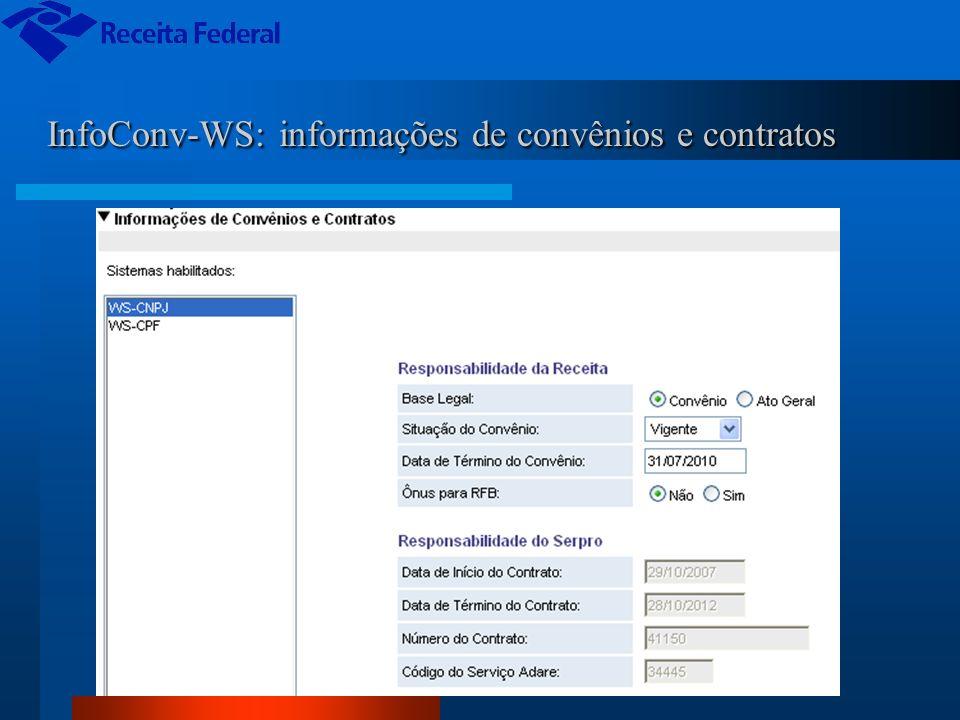 InfoConv-WS: informações de convênios e contratos InfoConv-WS: informações de convênios e contratos