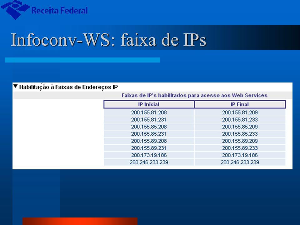 Infoconv-WS: faixa de IPs