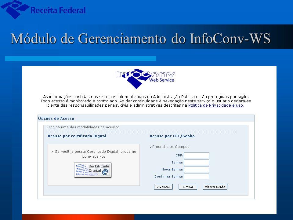 Módulo de Gerenciamento do InfoConv-WS