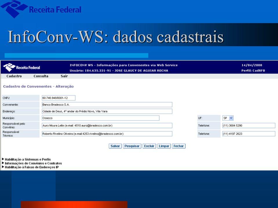 InfoConv-WS: dados cadastrais