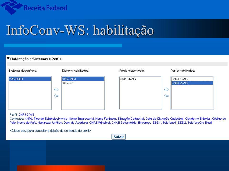 InfoConv-WS: habilitação