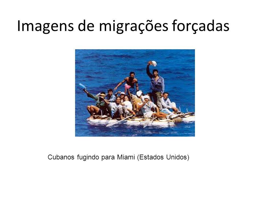 Imagens de migrações forçadas Cubanos fugindo para Miami (Estados Unidos)