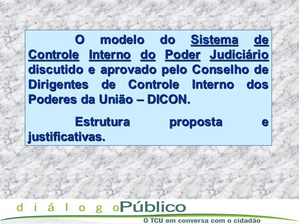 O modelo do Sistema de Controle Interno do Poder Judiciário discutido e aprovado pelo Conselho de Dirigentes de Controle Interno dos Poderes da União