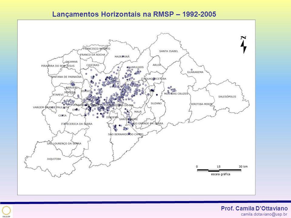 Lançamentos Horizontais na RMSP – 1992-2005 Prof. Camila DOttaviano camila.dotaviano@usp.br