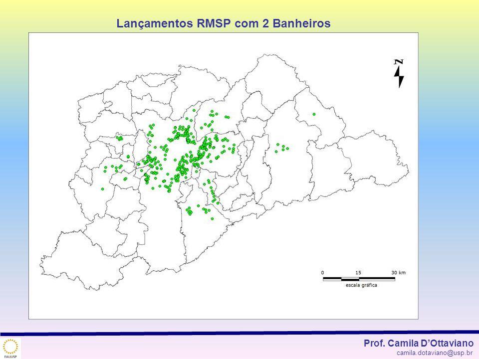 Lançamentos RMSP com 2 Banheiros Prof. Camila DOttaviano camila.dotaviano@usp.br