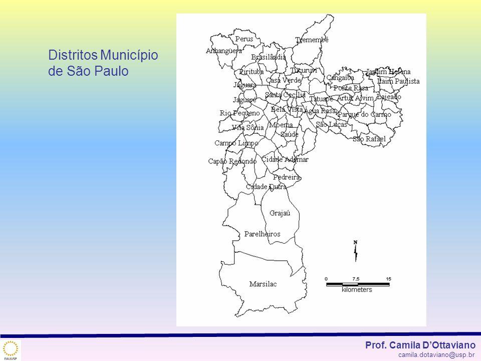 Distritos Município de São Paulo Prof. Camila DOttaviano camila.dotaviano@usp.br