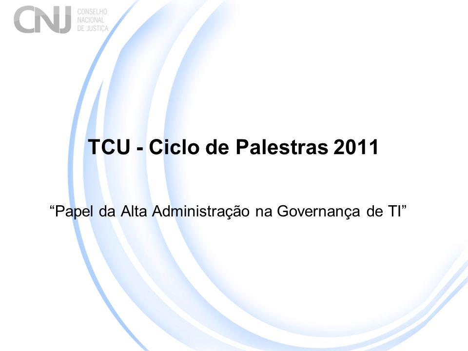 TCU - Ciclo de Palestras 2011 Papel da Alta Administração na Governança de TI