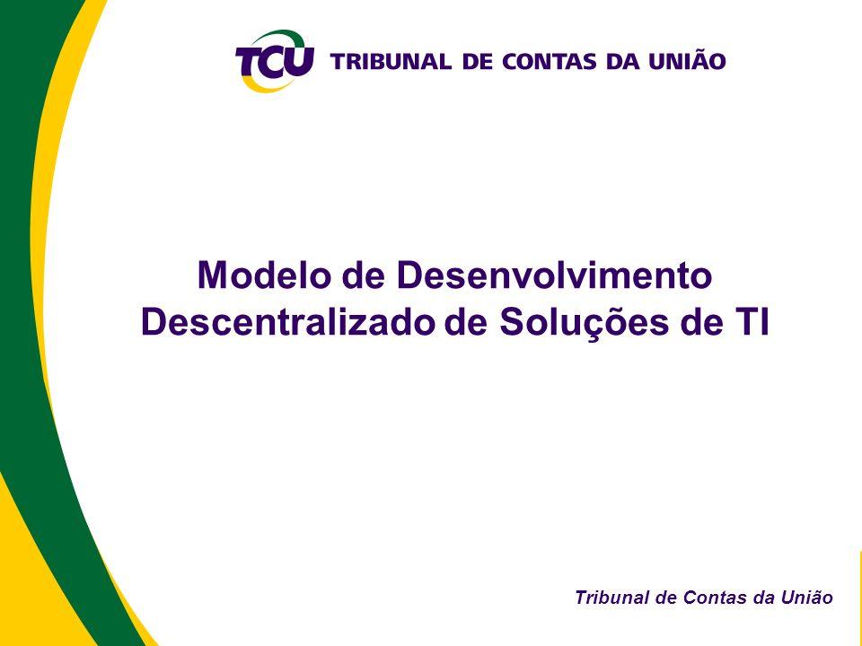 Modelo de Desenvolvimento Descentralizado de Soluções de TI Tribunal de Contas da União