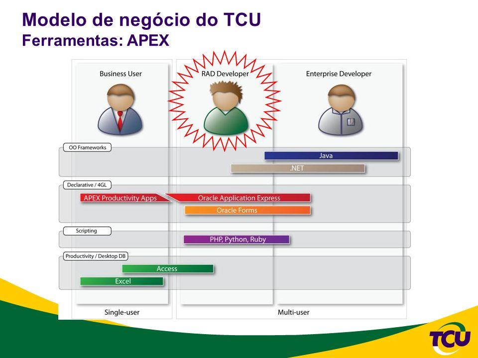 Modelo de negócio do TCU Ferramentas: APEX
