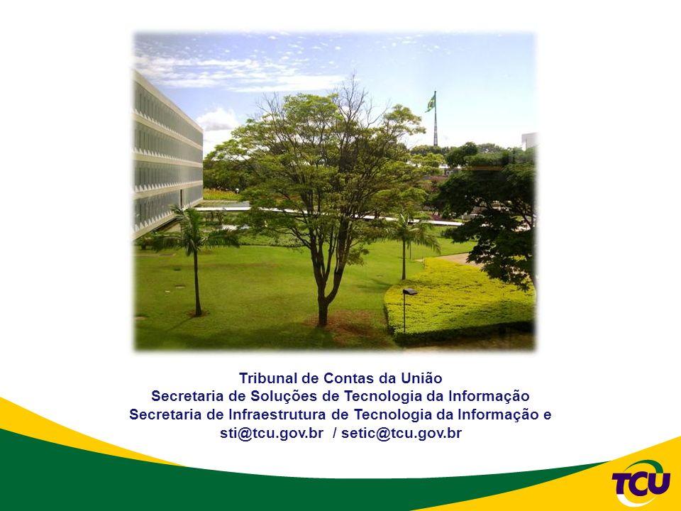 Tribunal de Contas da União Secretaria de Soluções de Tecnologia da Informação Secretaria de Infraestrutura de Tecnologia da Informação e sti@tcu.gov.