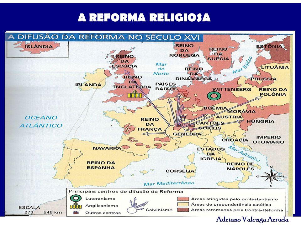 A REFORMA RELIGIOSA Adriano Valenga Arruda Representação de um Auto-de- fé na Inquisição Espanhola.