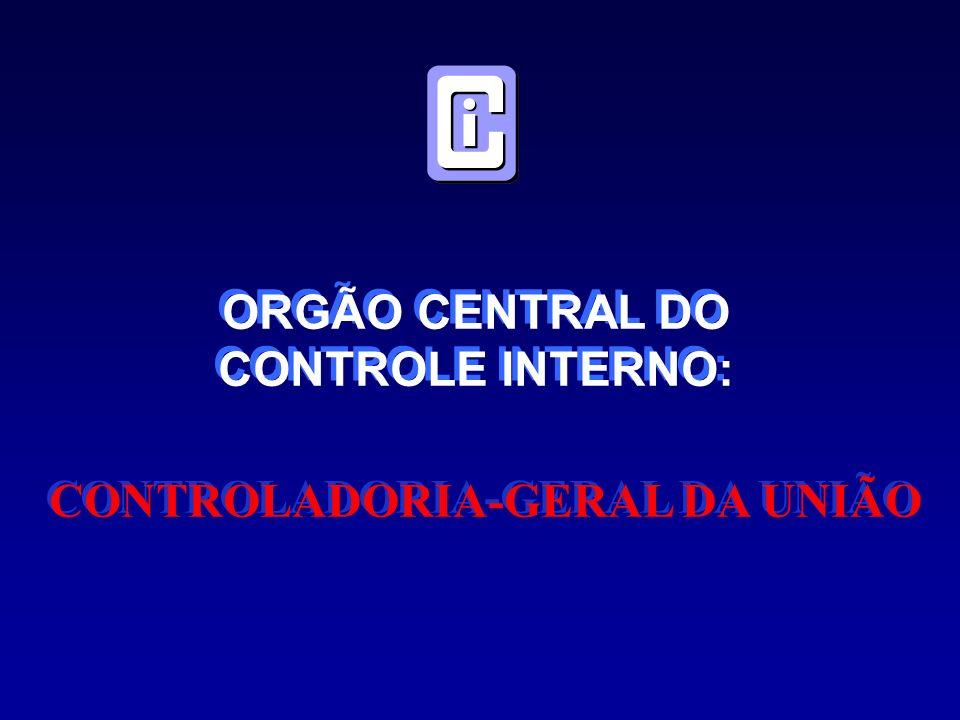 ORGÃO CENTRAL DO CONTROLE INTERNO: ORGÃO CENTRAL DO CONTROLE INTERNO: CONTROLADORIA-GERAL DA UNIÃO