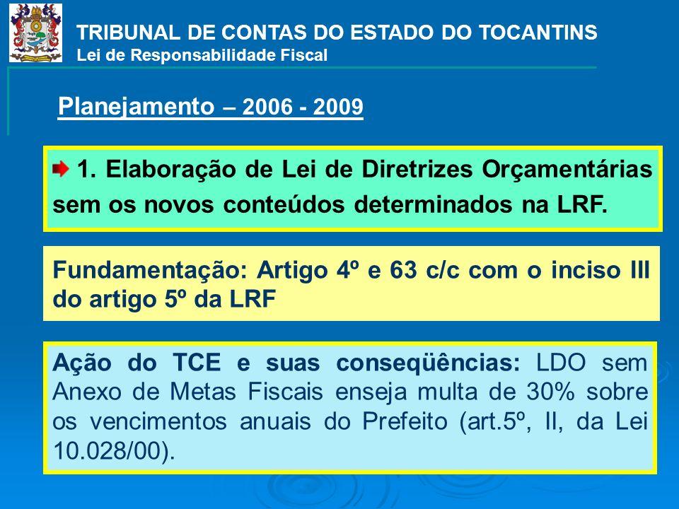 TRIBUNAL DE CONTAS DO ESTADO DO TOCANTINS Lei de Responsabilidade Fiscal 1.