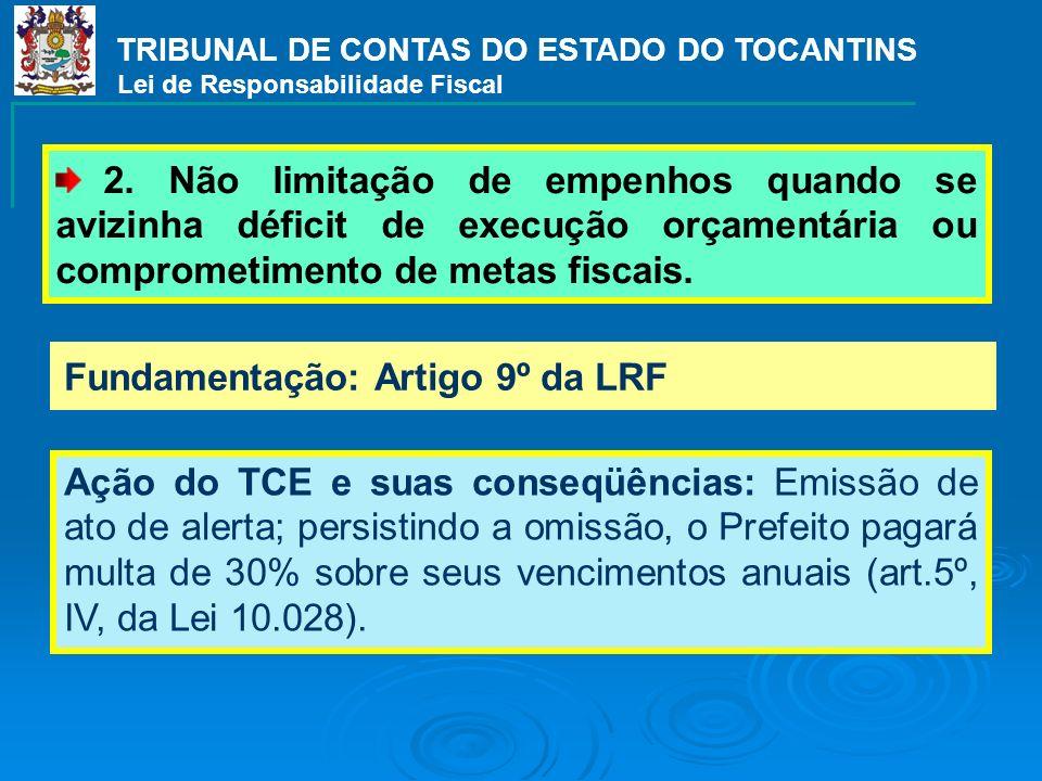 Fundamentação: Artigo 21 da LRF Ação do TCE e suas conseqüências: TCE ressalva registro da admissão de servidores e comunica ao Ministério Público de crime contra as finanças públicas (art.359 G do Código Penal).