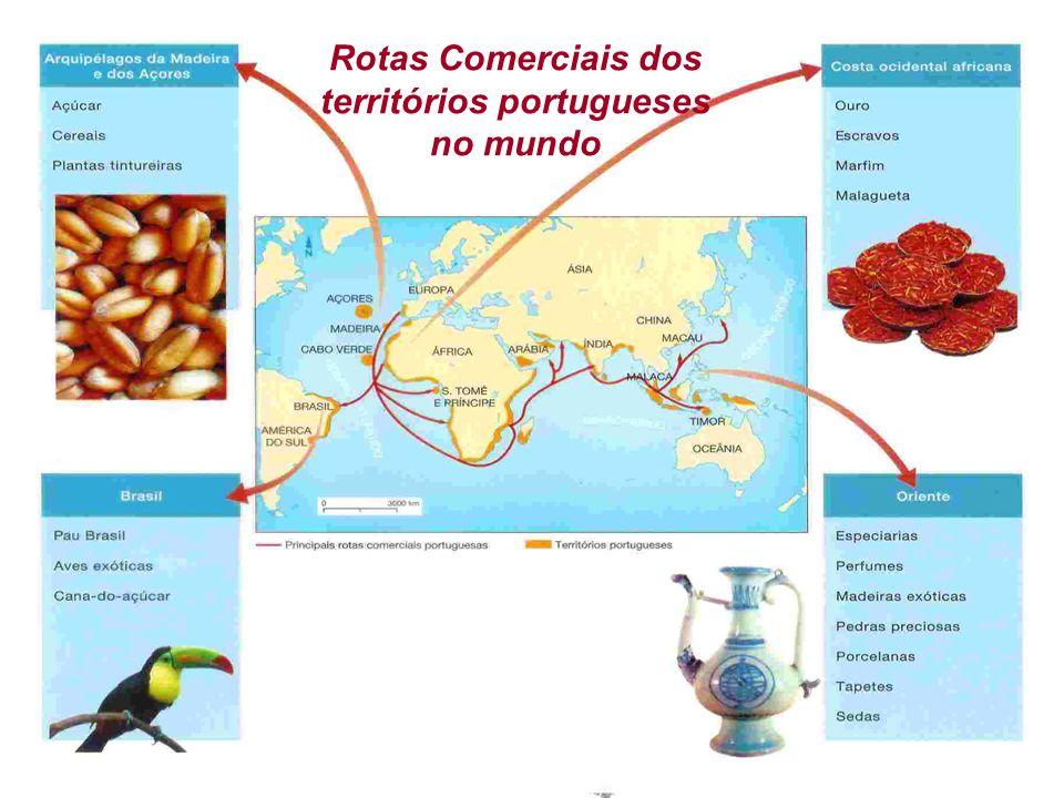 IDADE MODERNA EXPANSÃO MARÍTIMA Adriano Valenga Arruda Rotas Comerciais dos territórios portugueses no mundo