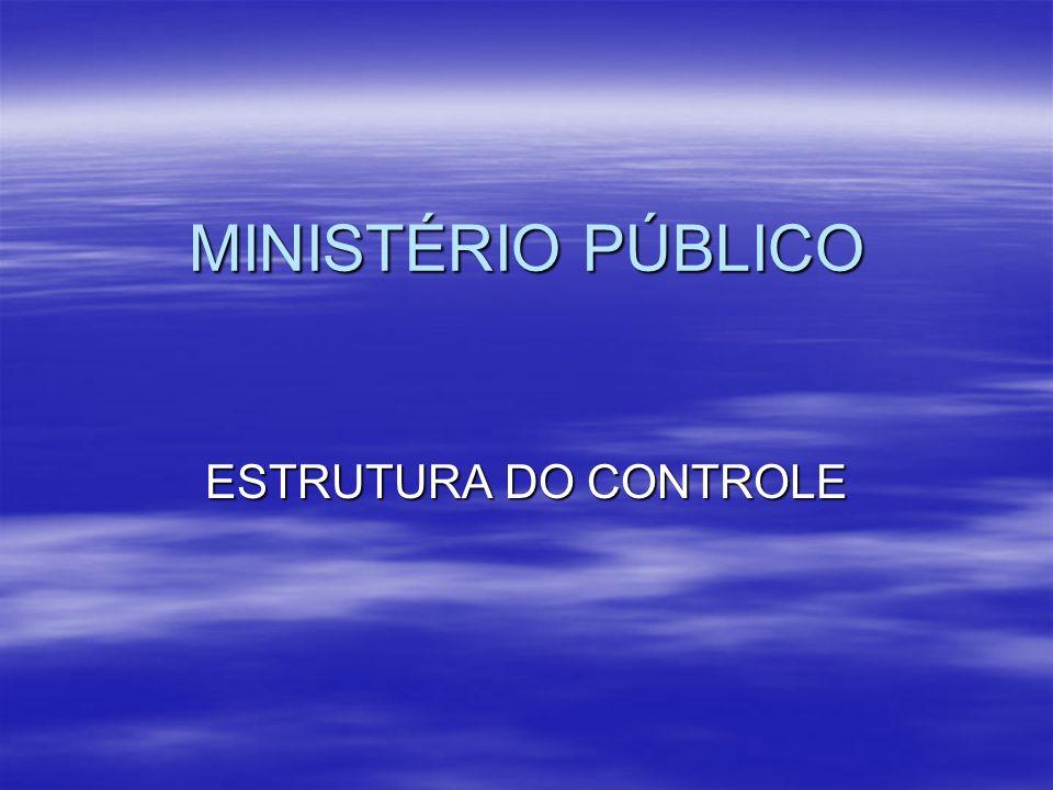MINISTÉRIO PÚBLICO ESTRUTURA DO CONTROLE