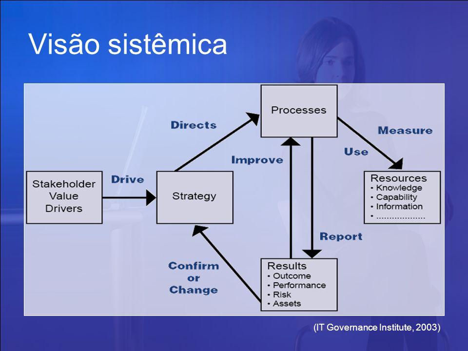(IT Governance Institute, 2003) Visão sistêmica