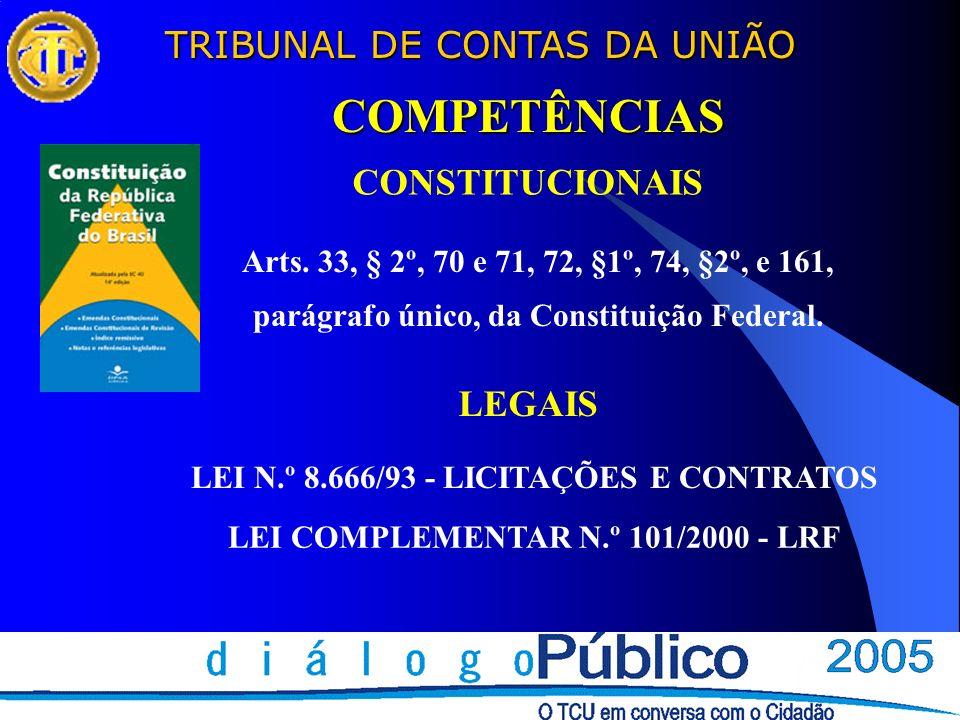 TRIBUNAL DE CONTAS DA UNIÃO O MODELO DE CONTROLE NO BRASIL TCU: controle externo técnico-operacional 4 TCU: controle externo técnico-operacional 4 Tribunais de contas estaduais e municipais: controle externo técnico-operacional.