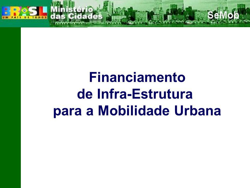 Financiamento de Infra-Estrutura para a Mobilidade Urbana