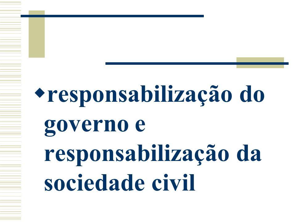 responsabilização do governo e responsabilização da sociedade civil