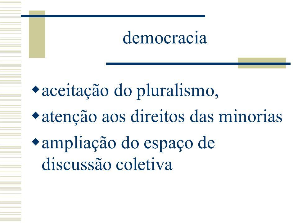 Instrumentos da democracia Plebiscito e referendo Fóruns de discussão na rede Bônus de representação pela web Conselhos de gestão em rede Pesquisa de opinião pública em rede sobre temas de interesse político, social e econômico