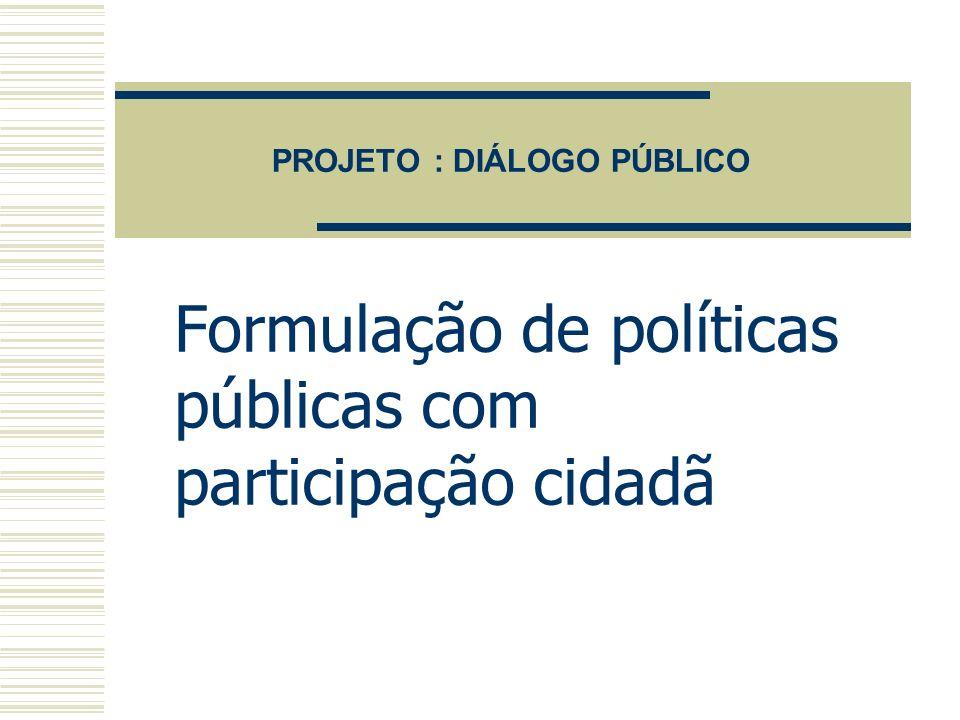 Diálogo Público Canais de comunicação livres com a utilização das tecnologias de informação