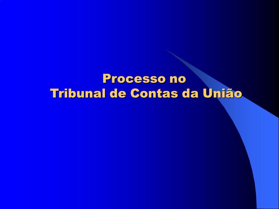 Processo no Tribunal de Contas da União Tribunal de Contas da União