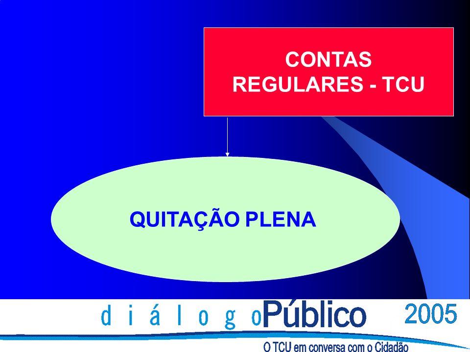 CONTAS REGULARES - TCU QUITAÇÃO PLENA