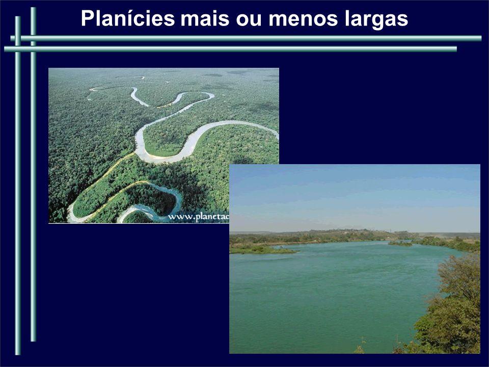 PADRÕES DE CANAS FLUVIAIS São definidos pelas suas configurações em planta e representam os graus de ajustamento dos canais aos seus gradientes e as suas seções transversais.